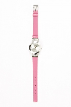 Pink Diamante Strap Watch