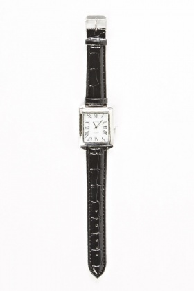 Square Face Thin Strap Watch