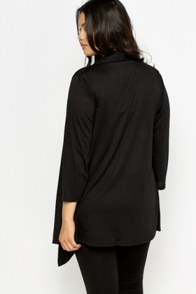 Waterfall Black Cardigan