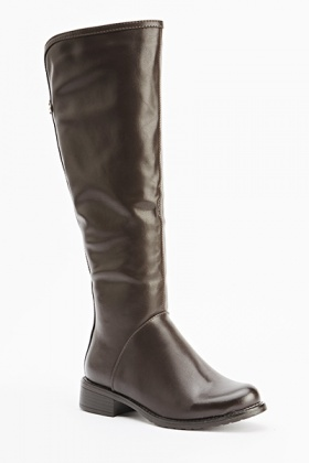 Knee High Faux Leather Boots