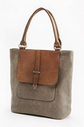 Middle Grey Contrast Handbag