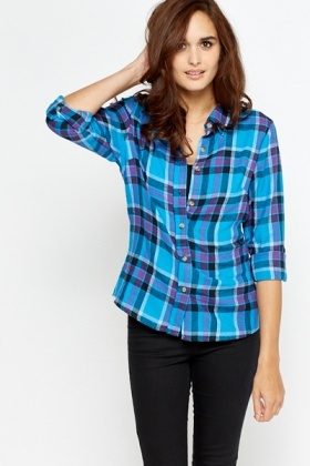 Fleece Checked Shirt