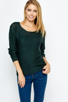 Short Knitted Pullover