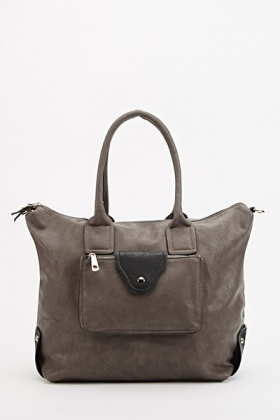 Contrast Pocket Front Bag