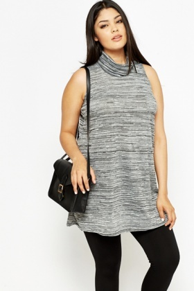 Speckled Roll Neck Tunic