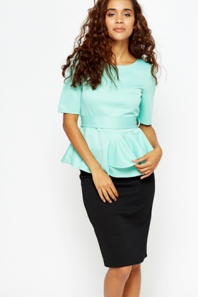 Layered Peplum Top