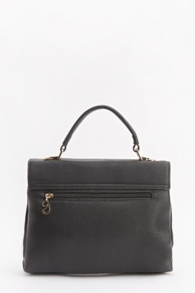 Faux Leather Textured Handbag