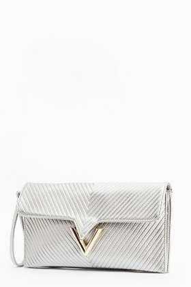 Metallic Shimmer Clutch Bag