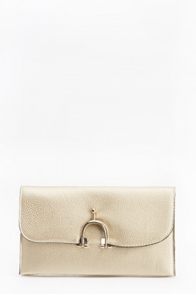 Textured Hook Clip Clutch Bag