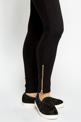 Contrast Elastic Skinny Fit Trousers