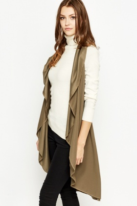 Textured Long Waterfall Cardigan - Just £5