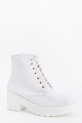Chunky Platform Lace up Boots