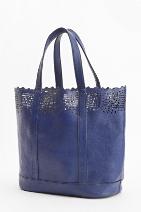 Laser Cut Out Tote Bag