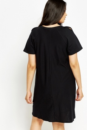 A-Line Cold Shoulder Dress