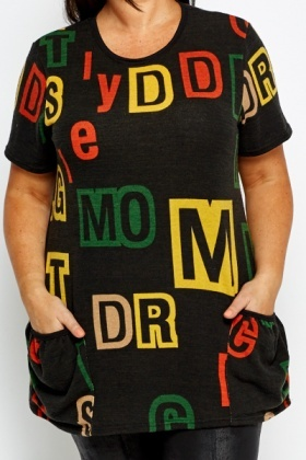 Charcoal Multi Letter Tunic
