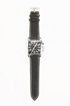 Mens Contrast Square Face Watch