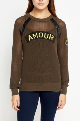 Cotton Woven Military Jumper