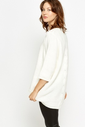 Oversized Drop Hem Jumper