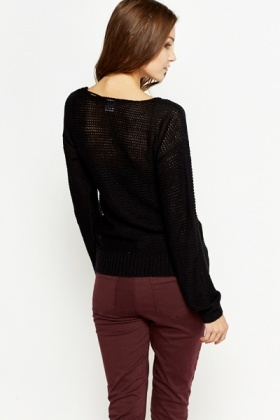 Perforated Knitted Jumper