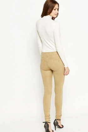 Dotted Slim Leg Trousers