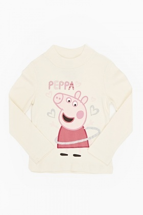 Funnel Neck Peppa Pig Top