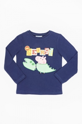 George Pig Dark Blue Top