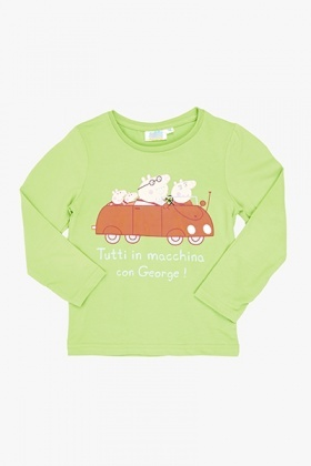 Green Peppa Pig Family Top