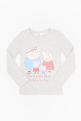 Long Sleeve Peppa Pig Top