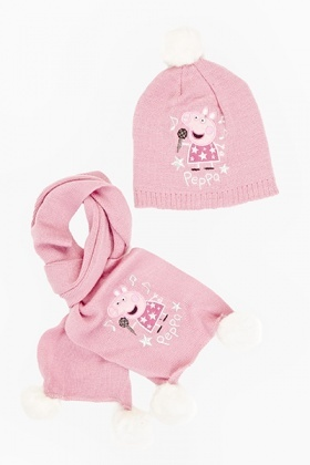 Peppa Pig Hat And Scarf Set