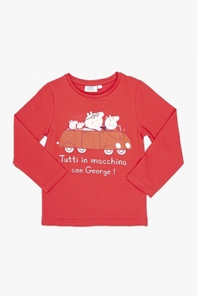 Red Peppa Pig Family Top
