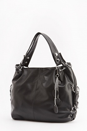 Faux Leather Casual Shoulder Bag