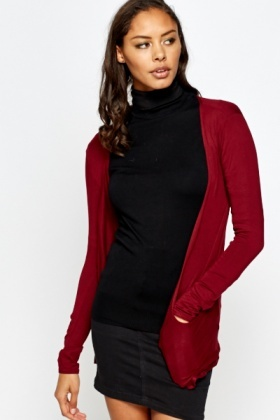 Burgundy Light Weight Cardigan