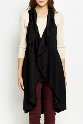 Textured Sleeveless Cardigan
