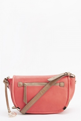Half Moon Contrast Crossbody Bag
