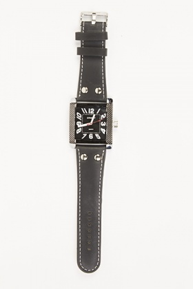 Black Contrast Dial Watch