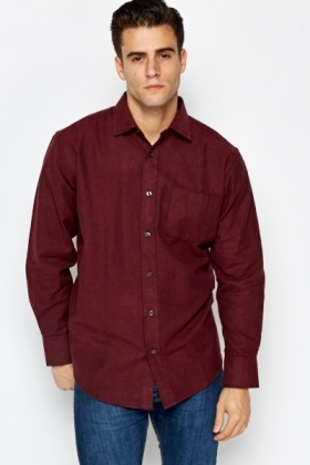 Burgundy Thick Cotton Shirt