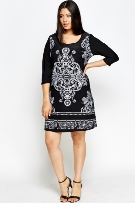 Mono Tribal A-Line Dress