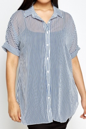 Short Sleeve Striped Shirt