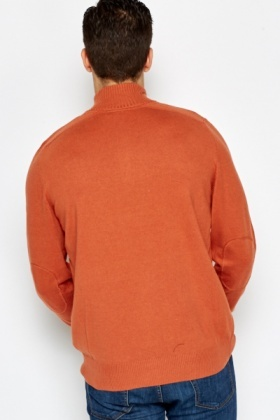 Zip Neck Rust Jumper