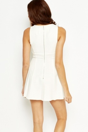 Cream Mini Skater Dress