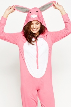 Pink Rabbit Hooded Onsie