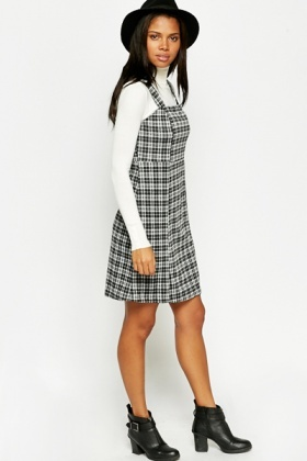 e64d9e0b43 Black Checked Pinafore Dress - Just £5