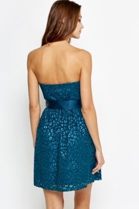 Cut Out Lace Bandeau Dress
