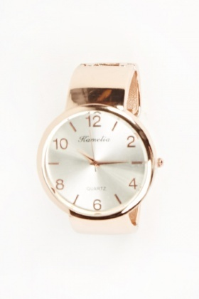 Large Face Bangle Watch