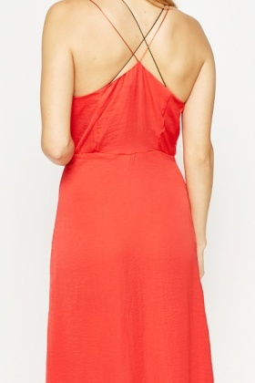 Red Silky Nightgown