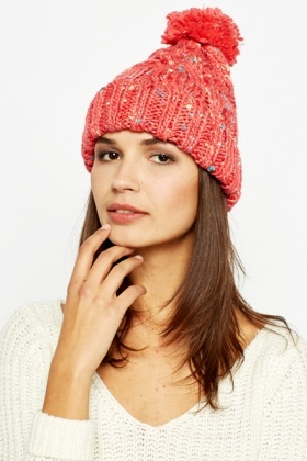 Rose Speckled Beanie Hat