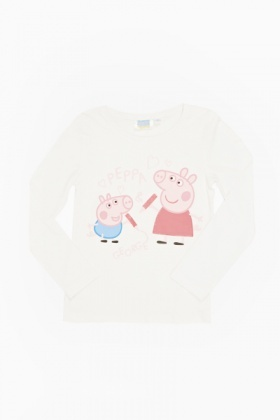White Peppa And George Pig Top