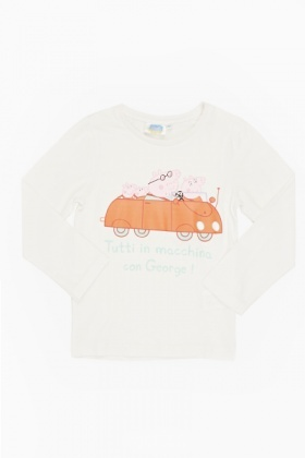 White Peppa Pig Family Top
