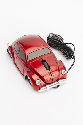 Retro Red Car Mouse