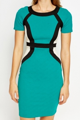 Block Colour Bodycon Dress
